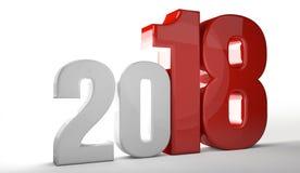 het nieuwe het jaar van 2018 3d teruggeven vector illustratie