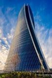 Het nieuwe Hoofdkwartier van wolkenkrabbergenerali ontwierp door Zaha Hadid Architects bij Citylife-district stock foto