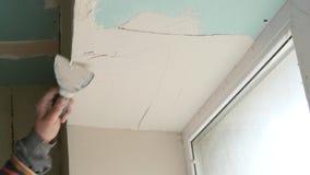 Het Nieuwe Huisbouw van bouwersis working on stock videobeelden