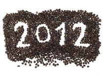 Het nieuwe jaar 2012 van de kalender Stock Fotografie