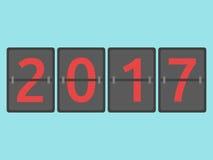 Het nieuwe jaar 2017 kwam Stock Illustratie