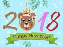 Het nieuwe jaar ondertekent het jaar van de hond Royalty-vrije Stock Foto's