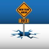 Het nieuwe jaar plateert vooruit Stock Afbeeldingen