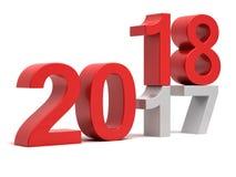 het Nieuwe jaar van 2018 van 2017 Stock Afbeeldingen