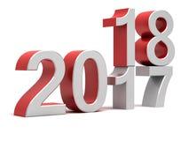 het Nieuwe jaar van 2018 van 2017 Stock Foto