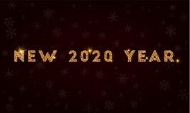 Het nieuwe jaar van 2020 Stock Foto's