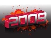 het nieuwe jaar van 2009 Royalty-vrije Stock Afbeeldingen