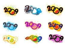 het nieuwe jaar van 2009 Royalty-vrije Stock Fotografie