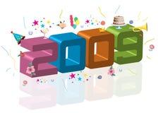 het nieuwe jaar van 2009 Stock Foto