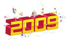 het nieuwe jaar van 2009 Stock Afbeelding