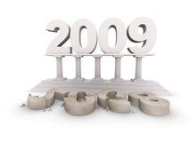 Het nieuwe jaar van 2009 komt stock illustratie