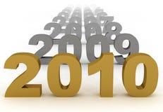 het nieuwe jaar van 2010 Royalty-vrije Stock Foto's