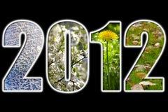 het nieuwe jaar van 2012 Royalty-vrije Stock Afbeeldingen
