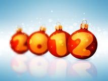 het nieuwe jaar van 2012 Stock Afbeeldingen