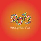 het nieuwe jaar van 2013 Stock Afbeeldingen