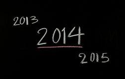 het nieuwe jaar van 2014 Stock Foto