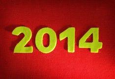 het nieuwe jaar van 2014 Stock Afbeeldingen