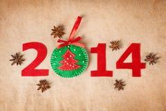 het nieuwe jaar van 2014 Royalty-vrije Stock Afbeelding