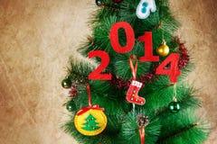 het nieuwe jaar van 2014 Stock Fotografie