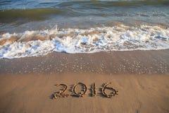 het nieuwe jaar van 2016 Stock Foto