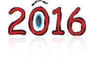 het nieuwe jaar van 2016 Royalty-vrije Stock Afbeeldingen