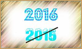het nieuwe jaar van 2016 Stock Afbeeldingen