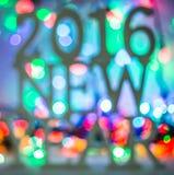 het nieuwe jaar van 2016 Stock Afbeelding