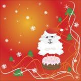 het nieuwe jaar van 2015, cake, schapen Vector illustratie Vector Illustratie