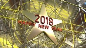 het nieuwe het jaar van 2018 3d teruggeven Royalty-vrije Stock Fotografie