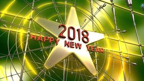 het nieuwe het jaar van 2018 3d teruggeven stock illustratie