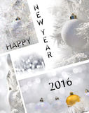 Het nieuwe jaar 2016 van de groetkaart Stock Foto