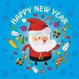 Het nieuwe jaar van de kerstman Stock Afbeelding