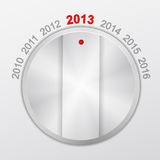 Het nieuwe jaar van de knop Royalty-vrije Stock Afbeelding