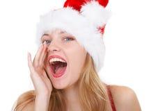 Het nieuwe jaar van de meisjesvraag royalty-vrije stock fotografie