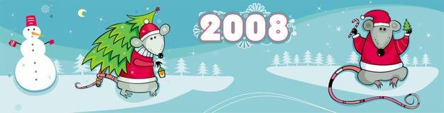 Het Nieuwe jaar van Kerstmis van de winter bann Royalty-vrije Stock Fotografie