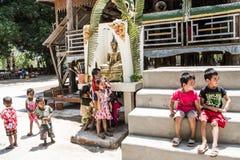 Het nieuwe jaar van Laos Stock Afbeelding