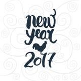 Het nieuwe jaar van letters voorzien Stock Foto