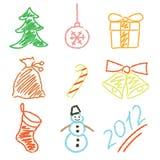 Het nieuwe jaar van pictogrammen Royalty-vrije Stock Foto's