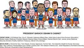 Het nieuwe kabinet van Obama van Barack Stock Fotografie