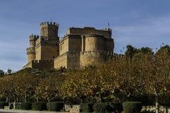 Het nieuwe kasteel van Manzanares el Real stock afbeelding