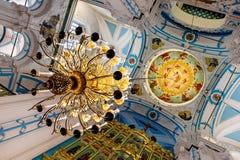 Het nieuwe klooster Istra Rusland, 28 Maart, 2013 van Jeruzalem Het binnenland van de koepel van de Kathedraal Royalty-vrije Stock Foto's