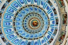 Het nieuwe klooster Istra Rusland, 28 Maart, 2013 van Jeruzalem Het binnenland van de koepel van de Kathedraal Stock Afbeelding