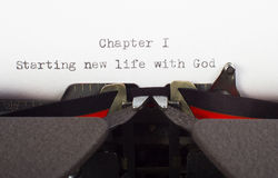 Het nieuwe leven met God royalty-vrije stock foto's