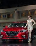 Het nieuwe model van Mazda dat in Motorshow wordt voorgesteld Stock Foto