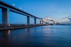 Het nieuwe oriëntatiepunt van Tokyo, de Poortbrug van Tokyo royalty-vrije stock fotografie