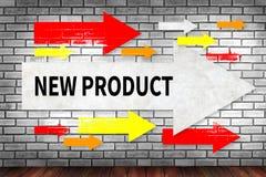 Het NIEUWE PRODUCT denkt Innovatielancering Marketing stock foto's