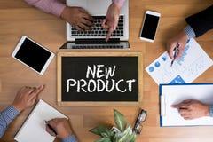 Het NIEUWE PRODUCT denkt Innovatielancering Marketing stock foto
