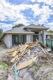 Het nieuwe puin van de huisbouw stock foto