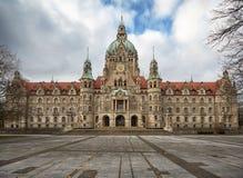 Het nieuwe Stadhuis Hanover van de Stad Stock Foto