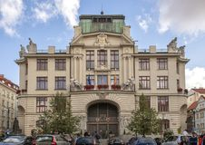 Het Nieuwe Stadhuis van Praag, Praag, Tsjechische Republiek stock afbeelding